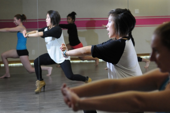 MJ Lee instructs the PussyCat Dance at Tantra Fitness in Vancouver BC